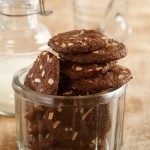 Chocolate, Coconut and Almond Cookies