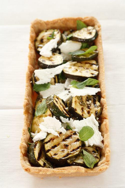 Oven Roasted Zucchini With Mint And Feta Recipe — Dishmaps