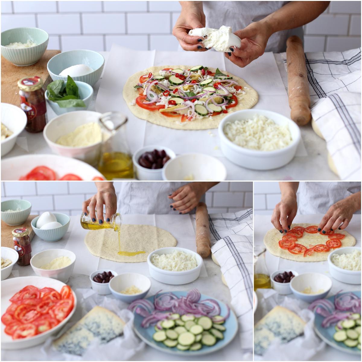 making pizza